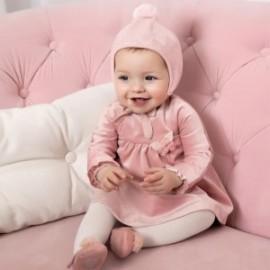 Sametové šaty pro dívky Mayoral 2862-94 růžový