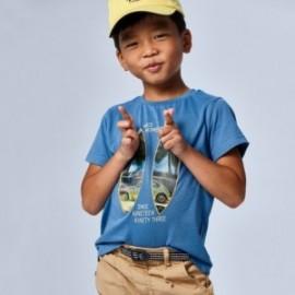 Tričko s krátkým rukávem pro chlapce Mayoral 3030-55 modrá