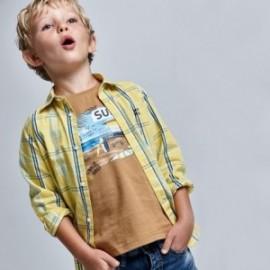 Tričko s krátkými rukávy chlapec Mayoral 3031-60 Hnědý