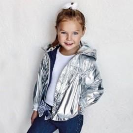 Dívčí přechodová bunda Mayoral 3483-53 Stříbrná
