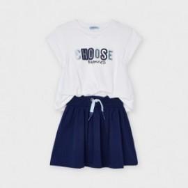 Sportovní šaty pro dívky Mayoral 3958-92 bílá/granát
