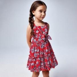 Šaty s potiskem pro dívky Mayoral 3947-3 červené