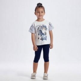 Sada trička a legín pro dívky Mayoral 3736-58 granát