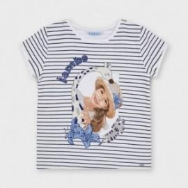 Dívčí tričko s pruhy Mayoral 3012-35 námořnická modrá