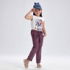 Dívčí kalhoty s potiskem Mayoral 3558-3 Červené
