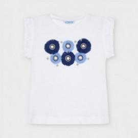Tričko s dívčí aplikací Mayoral 3024-44 Bílý