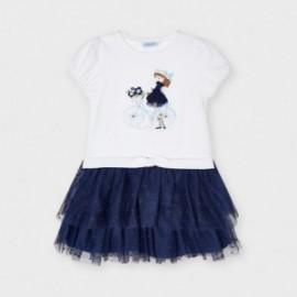 Dívčí kombinované šaty Mayoral 3916-85 Námořnická modrá