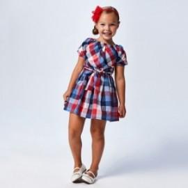 Dívčí kostkované šaty Mayoral 3948-3 červená / modrá