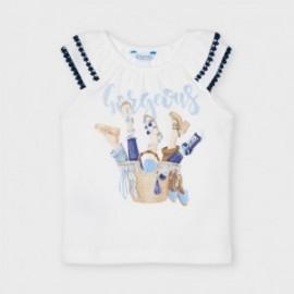 Tričko na ramenních popruzích holčičí Mayoral 3023-44 bílá