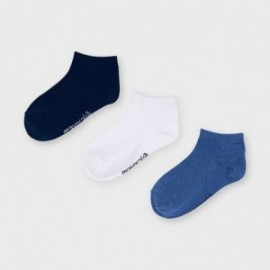 3 páry ponožek pro chlapce Mayoral 10055-43 námořnická modrá/bílá/modrá