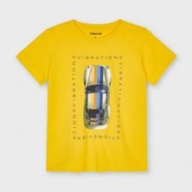 Tričko s potiskem chlapecký Mayoral 3039-39 žlutý