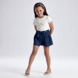 Dívčí džínové kraťasy Mayoral 3206-36 námořnická modrá