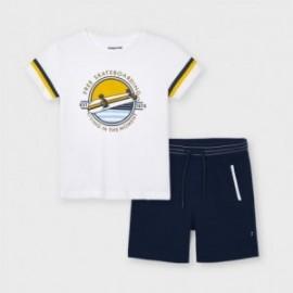 Sada trička a bermudy pro chlapce Mayoral 3644-53 granát