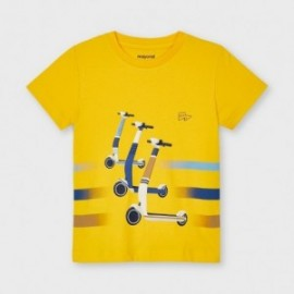 Tričko s krátkým rukávem pro chlapce Mayoral 3037-27 žlutá