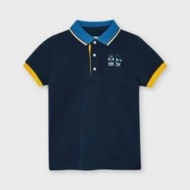 Chlapecké polo triko s krátkým rukávem Mayoral 3107-86 námořnická modrá