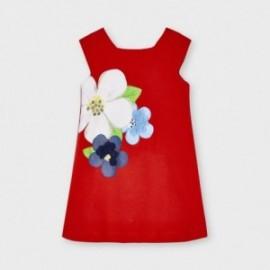 Dívčí šaty s potiskem Mayoral 3956-27 červené