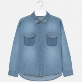 Mayoral 7142-5 Bluzka luzna jeans ćwieki kolor Jeans