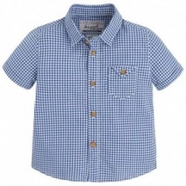 Mayoral 1156-96 Koszula krót.ręk.krata kolor Niebieski