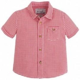 Mayoral 1156-95 Koszula krót.ręk.krata kolor Czerwony