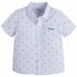 Mayoral 1160-11 Koszula k/r paski i nadruk kolor Biały
