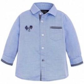 Mayoral 1170-55 Koszula dł.ręk. dobby detale kolor błękitny