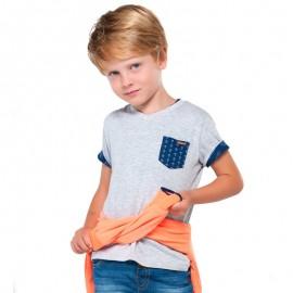 Mayoral 3038-95 Kompl. 2 koszulki nadruk/gład kolor Ocean