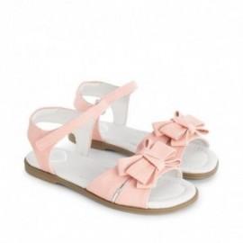Mayoral 43645-35 Sandały potrójna kokardka kolor Różowy