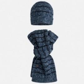 Mayoral 10092-85 Kompl. czapka szalik trykot kolor Niebieski