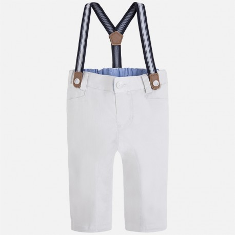 Mayoral 1517-35 Długie spodnie szelki kolor Clay