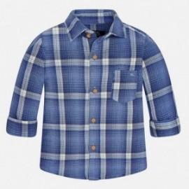 Mayoral 2147-26 košile mřížka dvojitý barva modrý tmavý