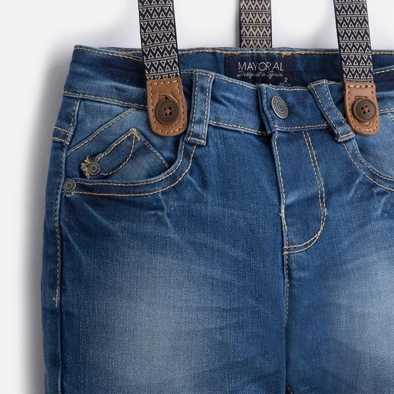 Mayoral 4537-42 kalhoty džíny štíhlý podvazky barva základní 4fe16935dc