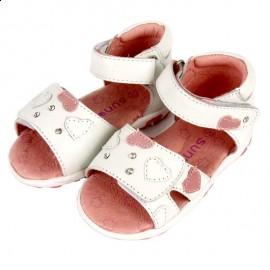 Sandały dziewczęce Sunway 6938 biały