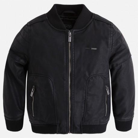Mayoral 4404-10 bunda imitace kůže barva černá