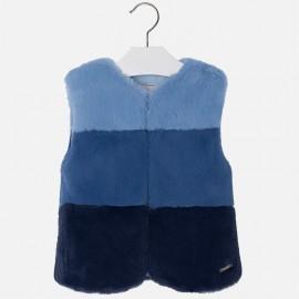Mayoral 4439-26 vesta s kožešinou barva námořnická modř