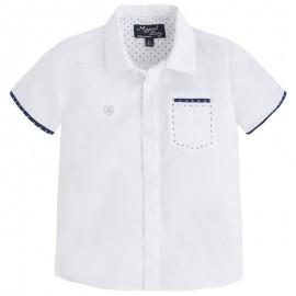 Mayoral 1154-84 Koszula krót. ręk. detale kolor Biały
