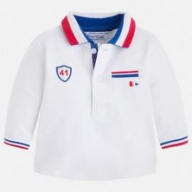 Mayoral 1113-46 tričko pólo barva bílá/chili