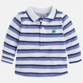 Mayoral 1115-76 tričko pólo pruhované barva granát