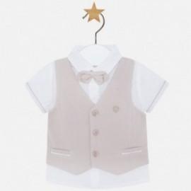 Mayoral 1117-72 košile s vestou a motýlek hnědé barvy