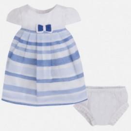 Mayoral 1839-41 šaty pásy barva modrý