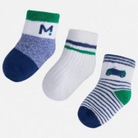 Mayoral 9456-73 sada 3 páry ponožky barva zelená