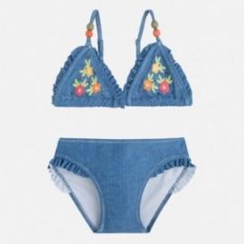 Mayoral 3727-30 bikiny květina vyšívaný barva džíny