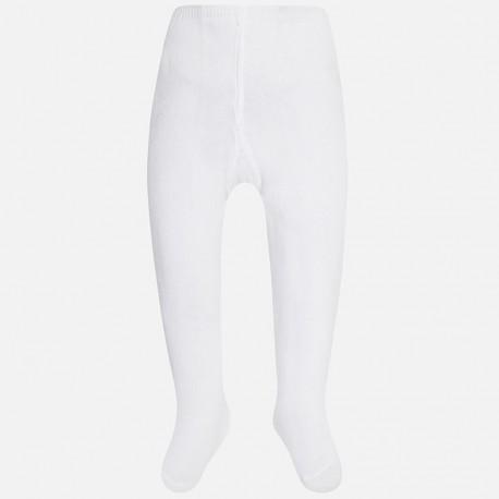 Mayoral 9589-82 punčocháče hladký barva bílá