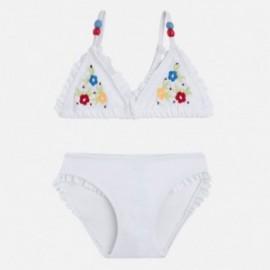 Mayoral 3727-33 Bikini vyšívané květiny bílá barva