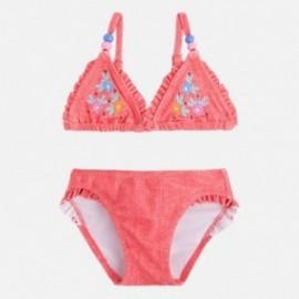 Mayoral 3727-32 Bikini vyšívané květiny korálové barvy