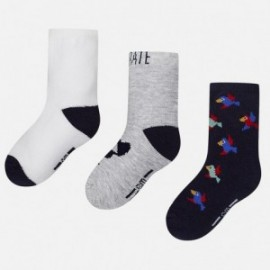 Mayoral 10122-15 Sada 3 párů ponožek barva tmavě modrá