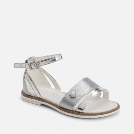 Mayoral 43777-72 Stříbrné sandály lesk barvy