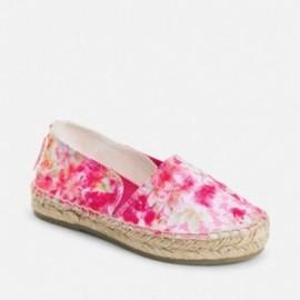 Mayoral 45795-76 plátěné boty květiny barva Fuchsia