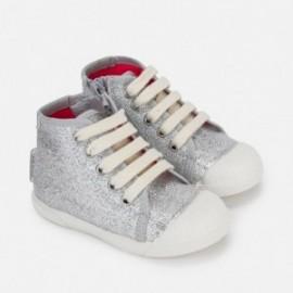 Mayoral 41786-50 kovové boty stříbrná barva