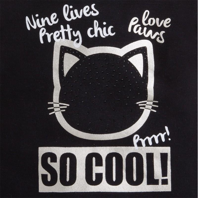 3f8975aee11e Mayoral 4969-29 pletené šaty kočka barva černá
