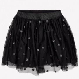 Mayoral 7907-81 sukně pepitki imitace kůže barva černá